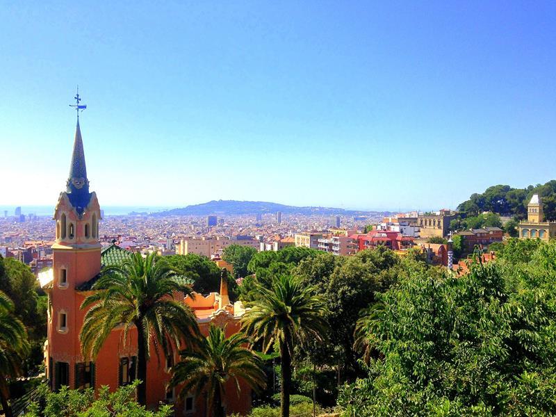 Der Parque Guell, einer der Haupt-Attraktionen in Barcelona