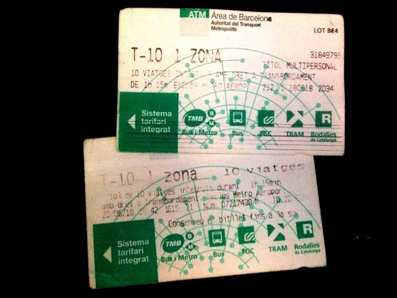 Die T10 Travelcard für die Metro in Barcelona - auch für den regulären Flughafen-Bus gültig