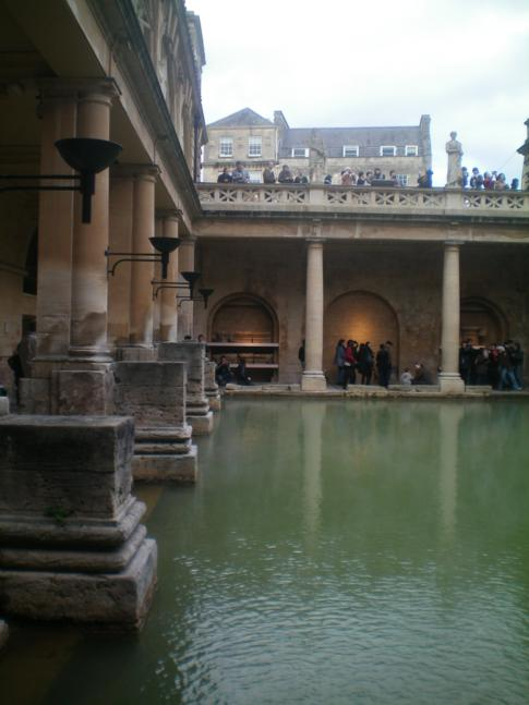 Die heißen Quellen im Roman Bath
