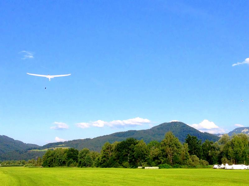 Flug mit dem Segelflugzeug in Benediktbeuern in Oberbayern