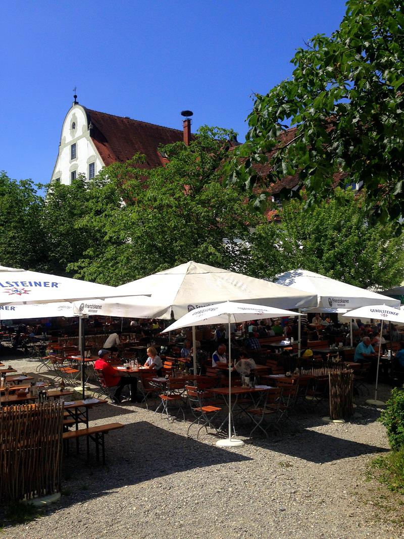 Der Klosterbiergarten in Benediktbeuern