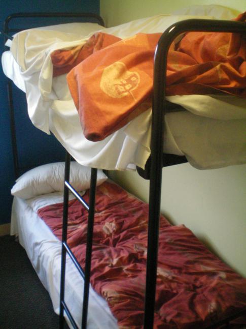 Ein Doppelzimmer im International Youth Hostel in Belfast