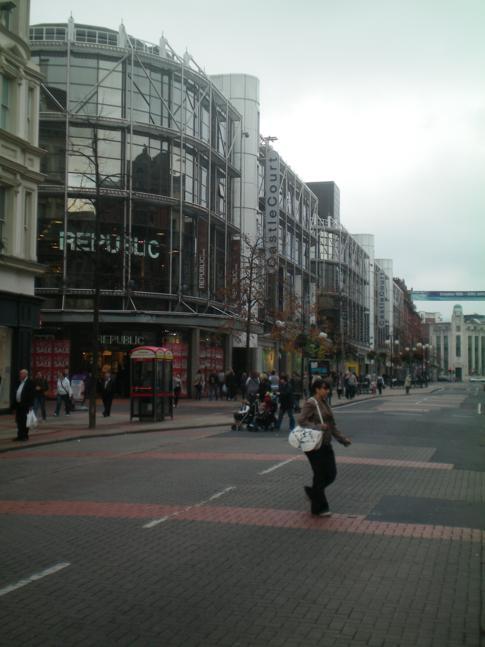 Die Royal Avenue in Belfast - kurz nach dem Beginn unserer Stadtführung