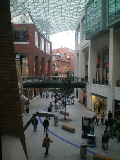 Das Victoria Square Shopping Center in Belfast