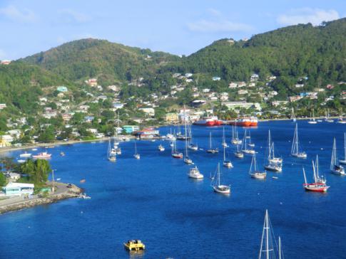 Blick vom Fort Hamilton auf die Admiralty Bay und auf Port Elizabeth