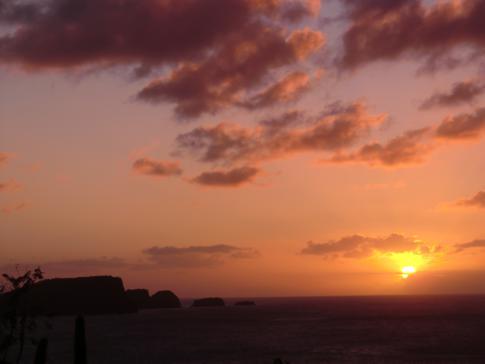 Der Sonnenuntergang vom Fort Hamilton auf Bequia