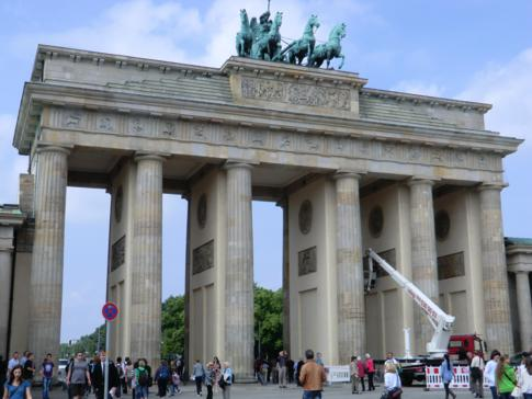 Das Brandenburger Tor am Pariser Platz in Berlin