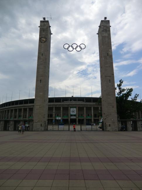 Der Osteingang des Berliner Olympiastadion