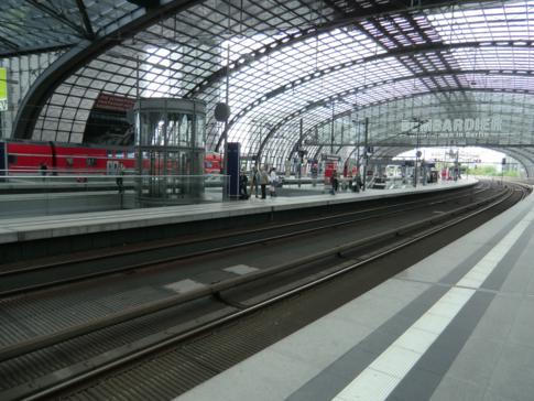 Der neue Berliner Hauptbahnhof, hier die oberste Etage