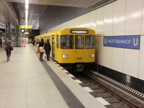 Die vielleicht kürzeste U-Bahn Deutschlands: die U55 mit 1,8 Kilometern Länge zwischen Berlin Hbf. und Brandenburger Tor