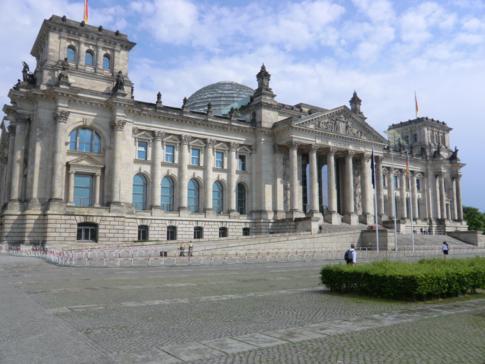 Der deutsche Reichstag in Berlin