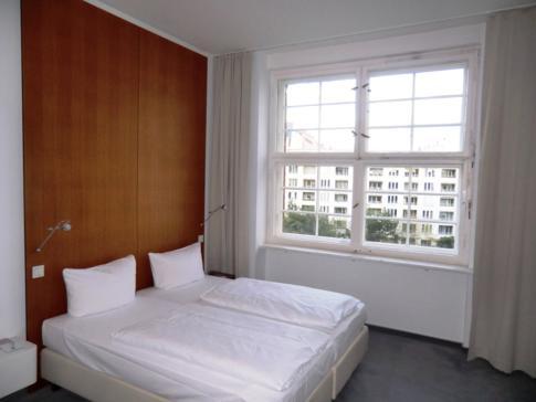 Mein Einzelzimmer im 4. Stock des historischen Gebäudes