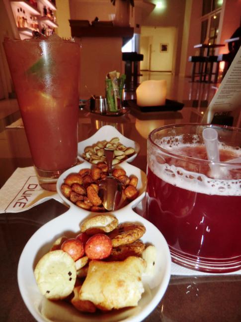 Sehr stilvolle Getränke in der Duke Lounge