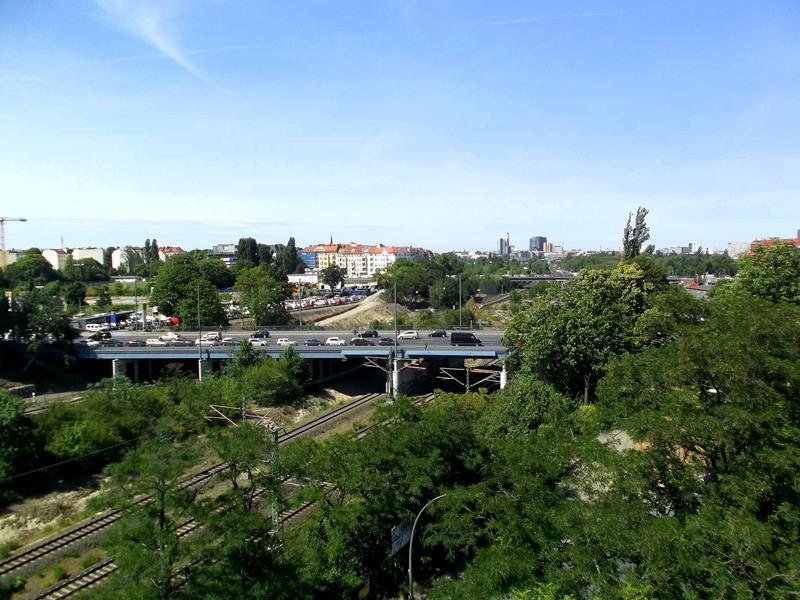 Ausblick vom Schwerbelastungskörper nahe dem Südkreuz