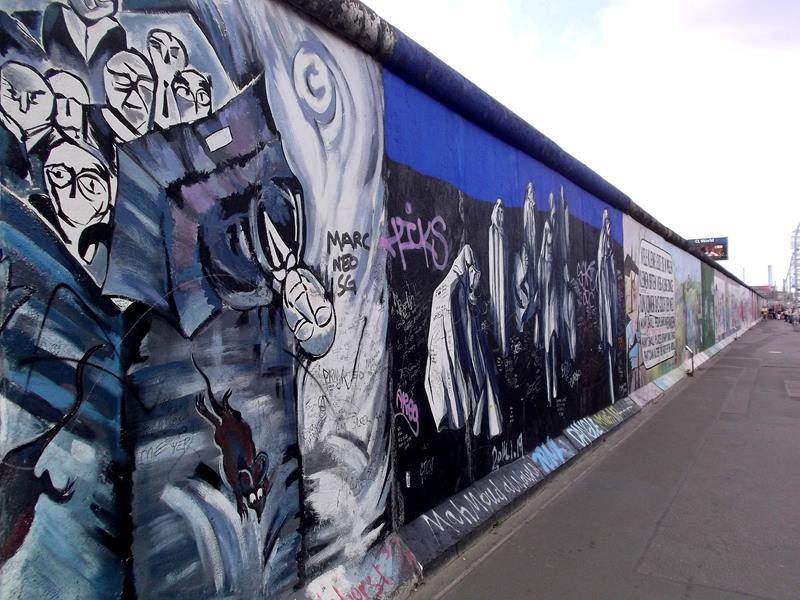 Die berühmte East Side Gallery in Berlin