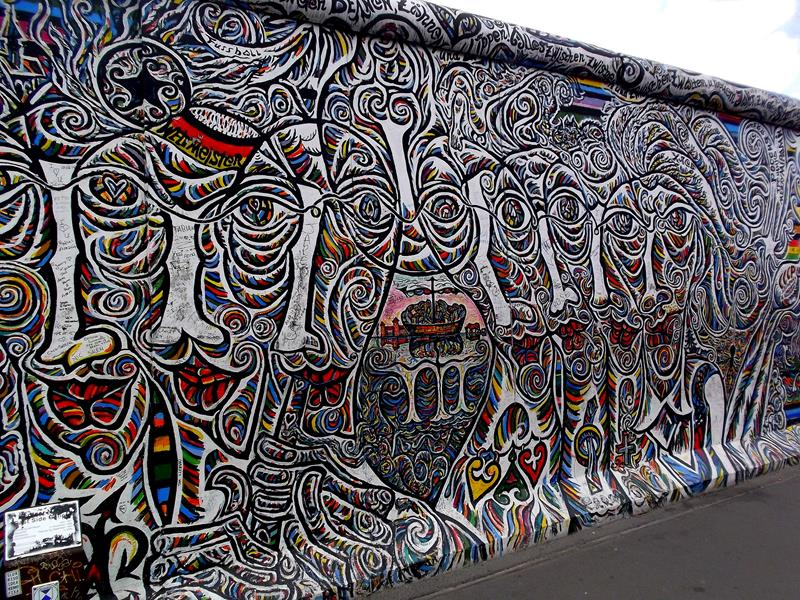 Die berühmte East Side Gallery in Berlin