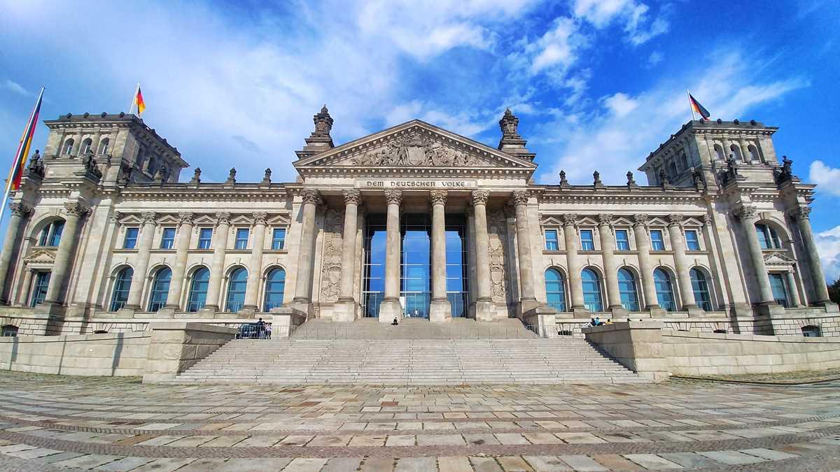 Der Reichstag in Berlin, Sitz des deutschen Bundestags