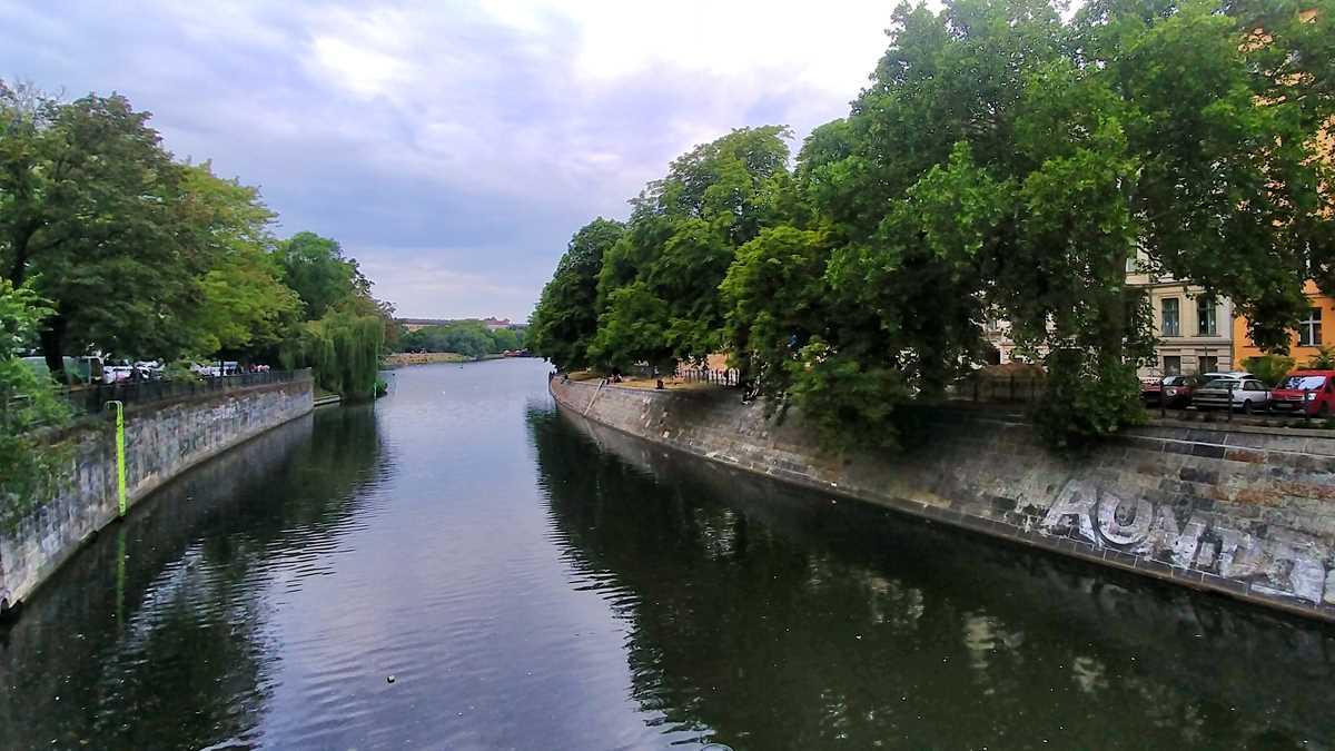 Der idyllische Landwehrkanal im Herzen von Berlin