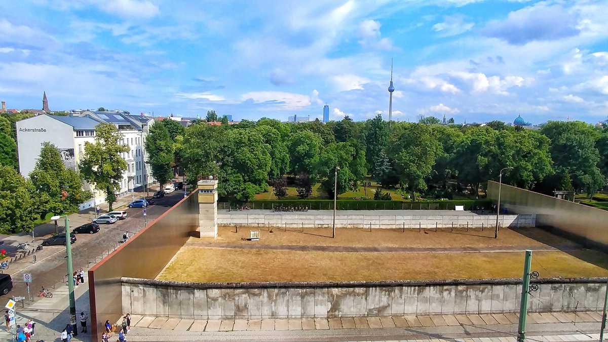 Die Gedenkstätte Bernauer Straße, einer der wichtigsten Orte der deutschen Teilung