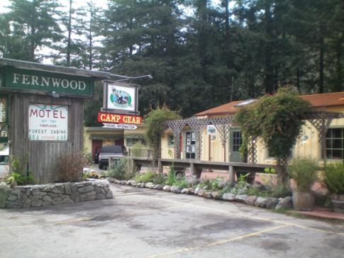 Das Fernwood Motel in Big Sur, direkt am Highway No. 1