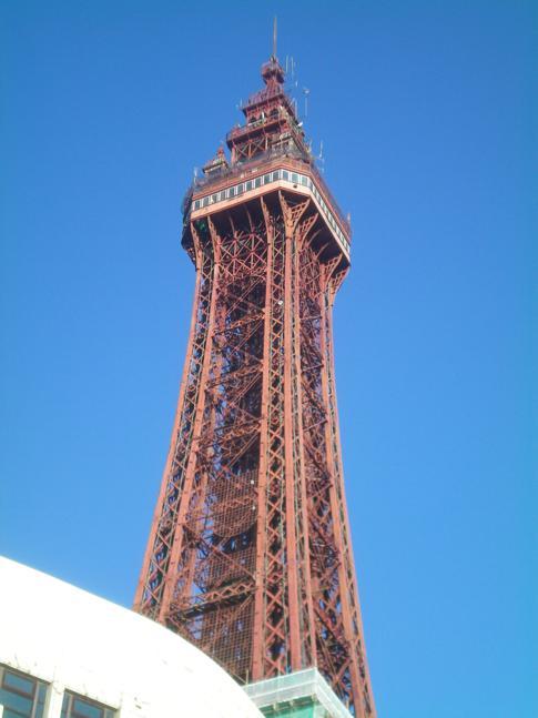 Der Blackpool Tower im gleichnamigen Seebad im Westen Englands