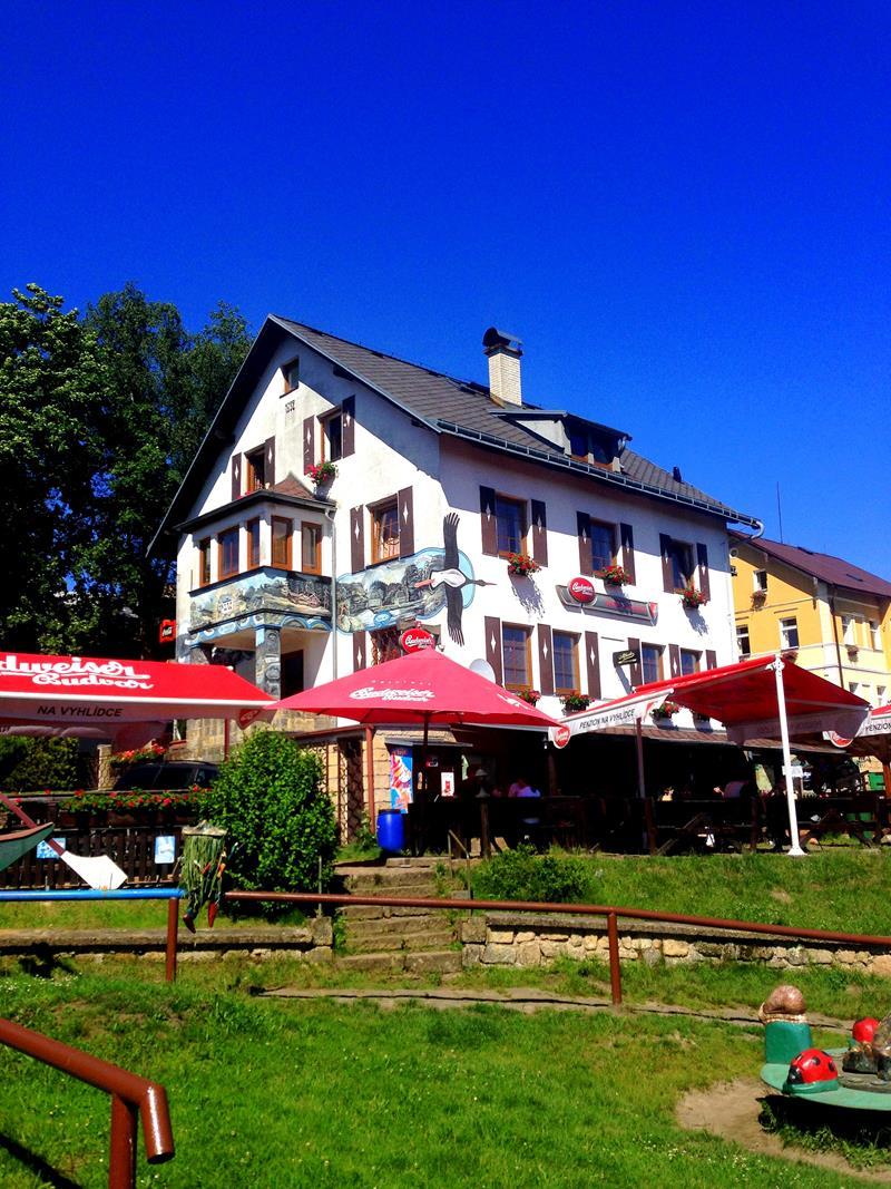 Ein Gästehaus im tschechischen Mezna