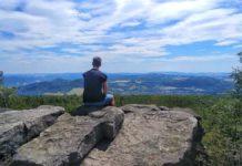 Der Blick vom Hohen Schneeberg in Richtung Jilové
