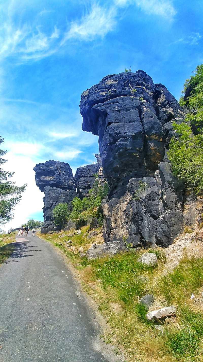 Wanderung zum höchsten Berg des Elbsandsteingebirges, dem Hohen Schneeberg