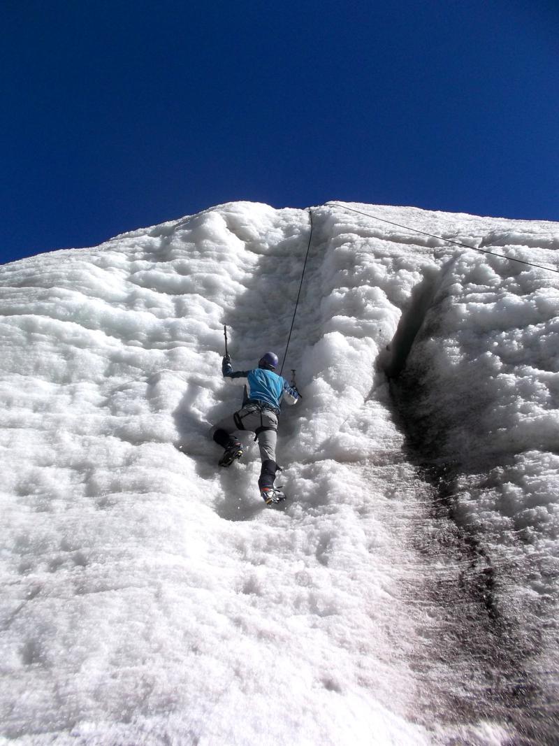 Eisklettern in Bolivien auf 5000 Meter Höhe