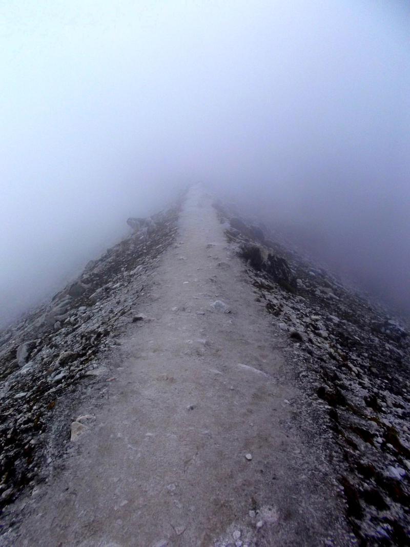 Weg vom Base-Camp zum High-Camp des Huayna Potosi