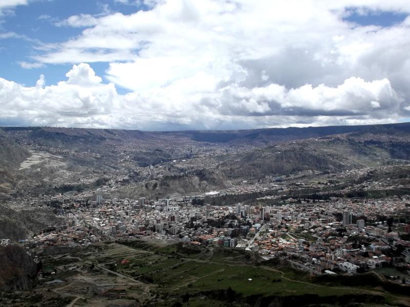 Blick auf La Paz, die größte Stadt in Bolivien