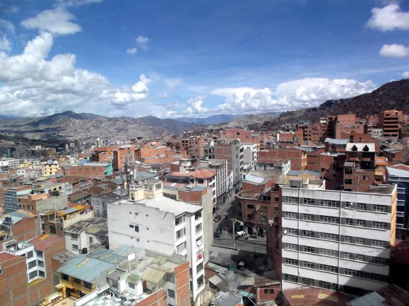 Beste Aussichten gibt es mit dem Teleferico, der Gondelbahn von La Paz