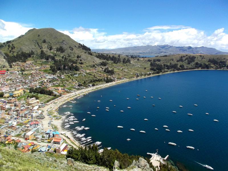 Copacabana, einer der schönen Orte am Titicacasee