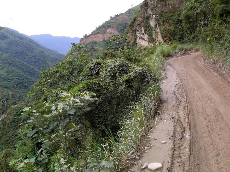 Die Death Road (Straße des Todes) von La Paz nach Rurrenabaque