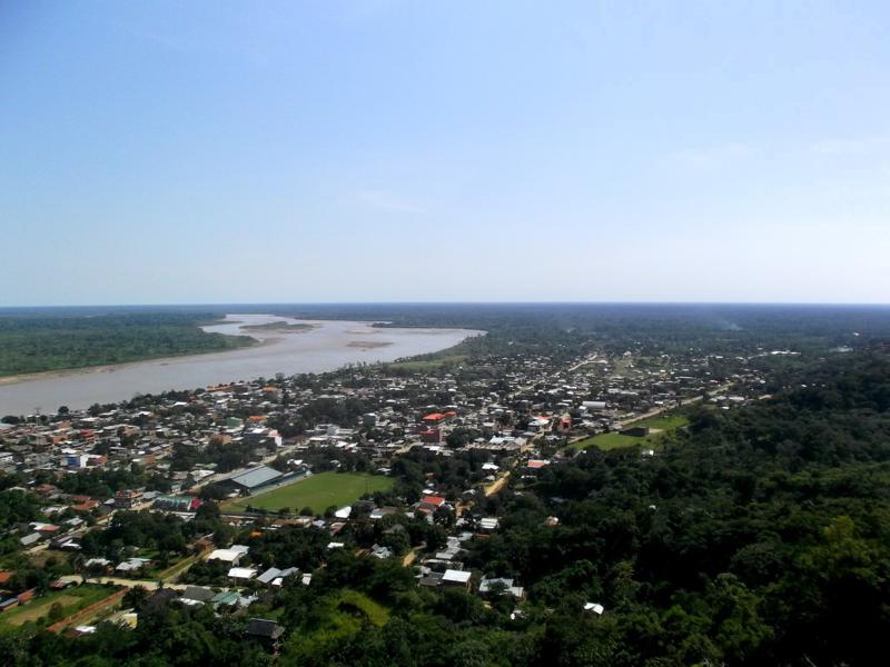 Kleiner Aussichtspunkt im Städtchen von Rurrenabaque