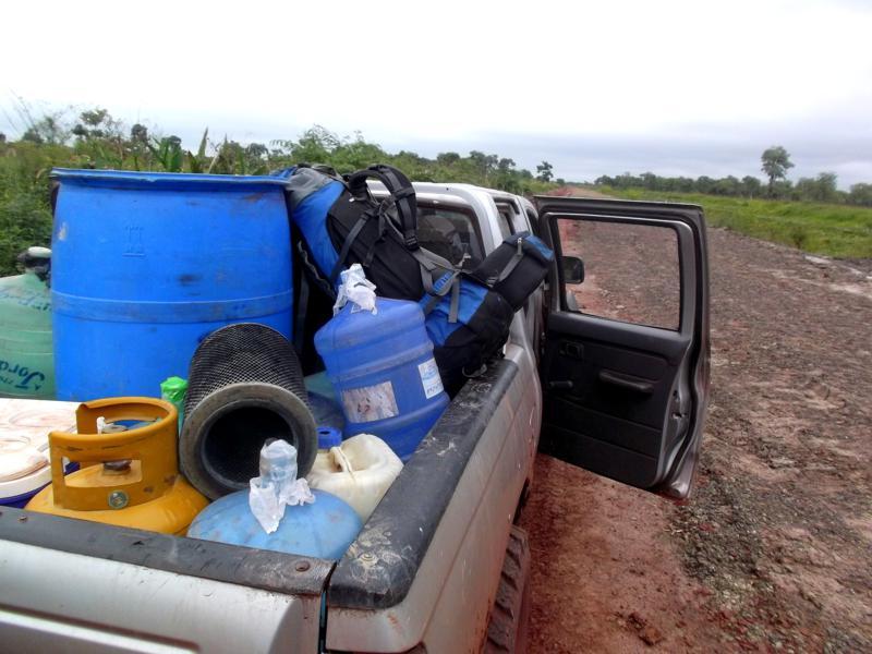 Meine Mitfahrtgelegenheit auf dem Weg von Puerto Suarez nach Puerto Busch