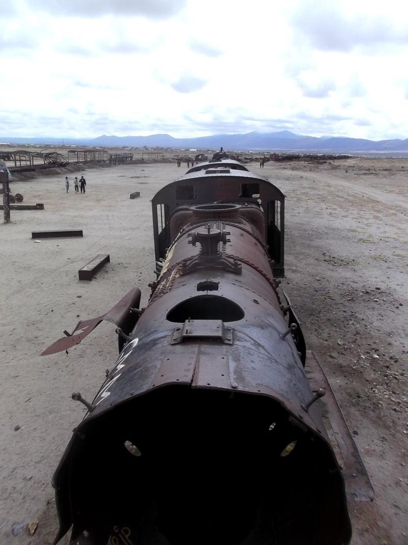 Der Eisenbahnfriedhof im Norden der Salzwüste von Uyuni