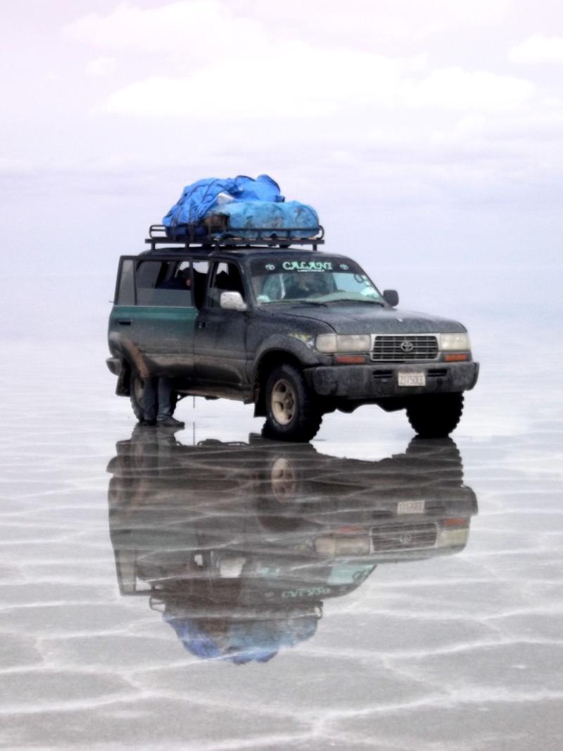 Unser Jeep von Thiago Tours für die Tour durch die Salar de Uyuni