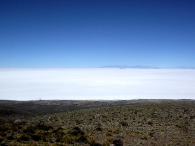 Aufstieg auf den Vulkan Tunupa im Westen der Salar de Uyuni