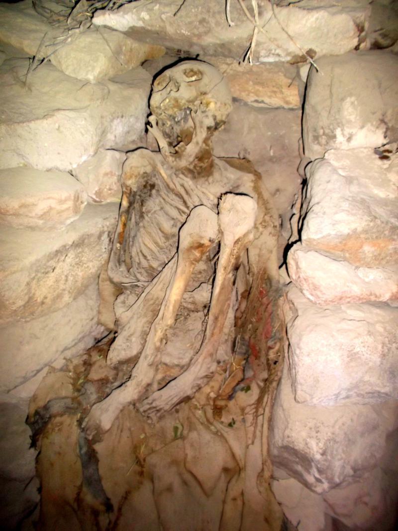 Jahrhundertealte Skelette auf dem Tunupa Vulkan