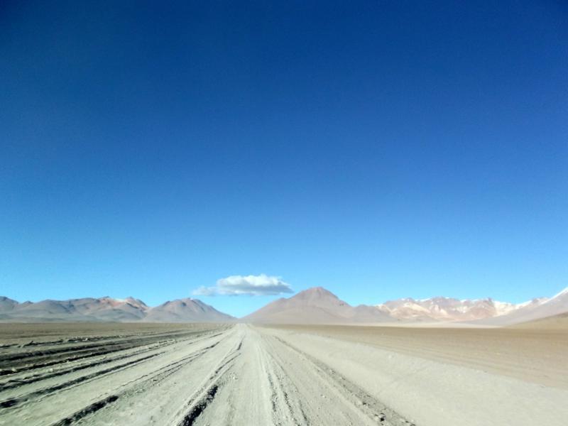Atemberaubende Landschaft auf unserer Reise mit Thiago Tours durch die Salzwüste von Bolivien