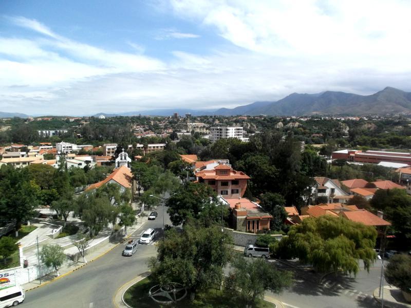 Ausblick vom Parque de las Flores in Tarija