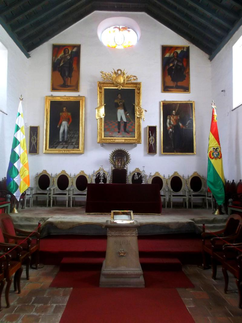 Die Casa de la Libertad in Sucre, die offizielle Hauptstadt von Bolivien