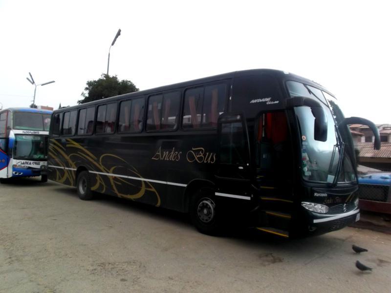 Fahrt in Bolivien mit AndesBus von Tarija nach Sucre