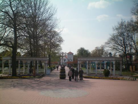 Die Mittelpromenade in Boltenhagen