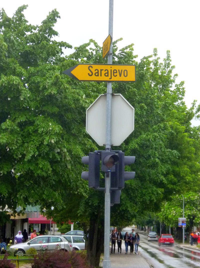 Sarajevo ist in ganz Bosnien-Herzegowina bestens ausgeschildert