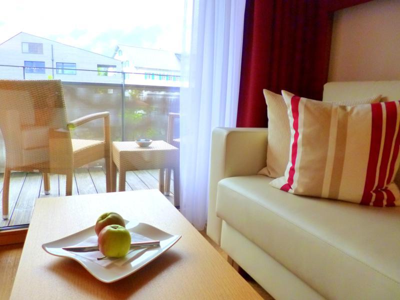 Unser Doppelzimmer im Sonne Lifestyle Resort in Mellau im Bregenzerwald