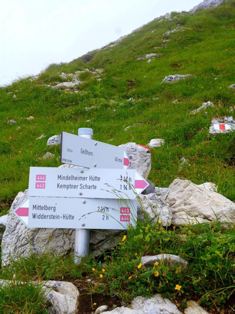 Wanderung vom Hochtannbergpass zum Geißhorn