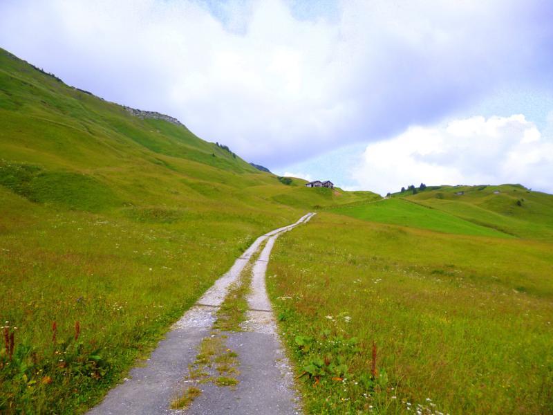 Wunderschöne Natur im Gebiet der Bregenzerwald Alpen