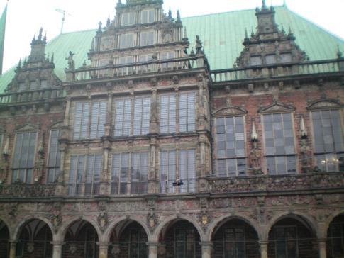 Das Rathaus in der Innenstadt von Bremen